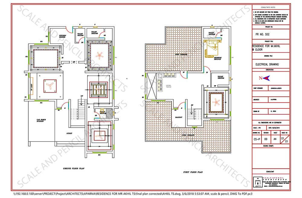 house electrical drawing plan