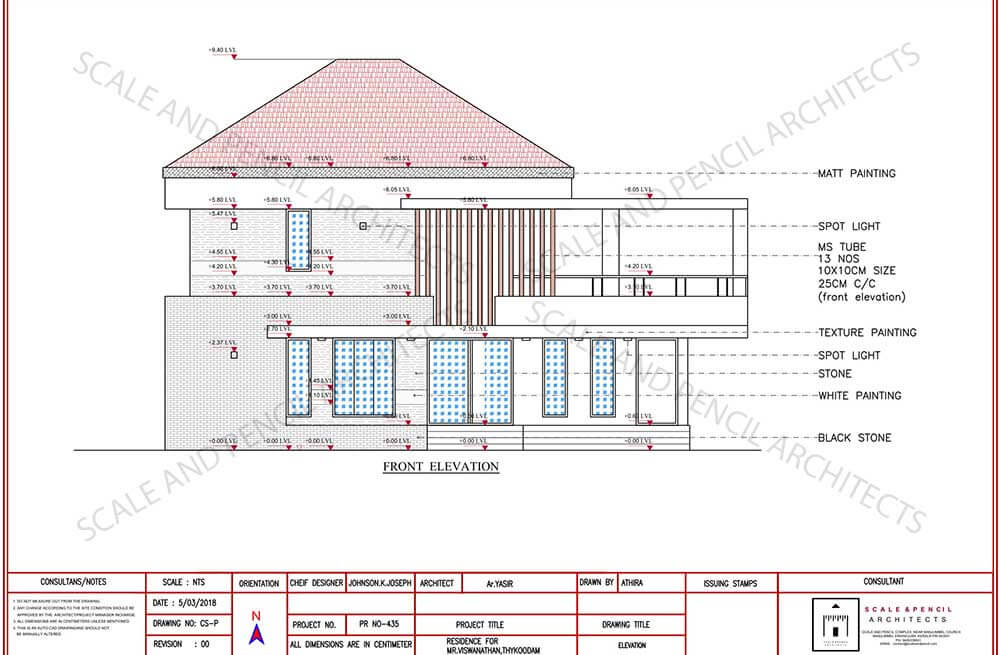 new home front elevation plan kochi ernakulam