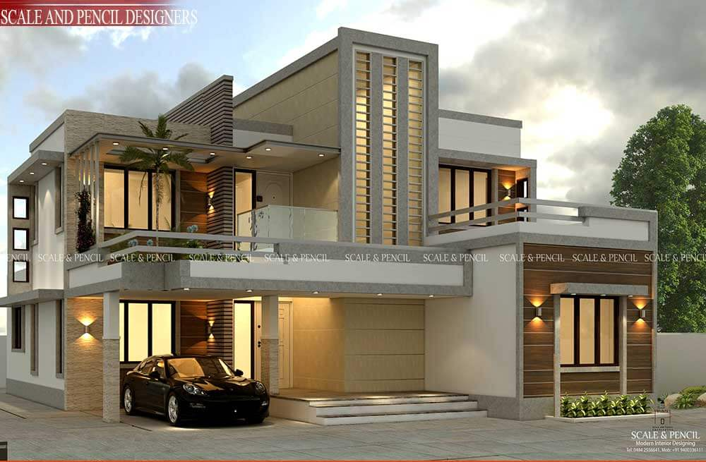 External Home Design Interior: Residential Design In Kochi